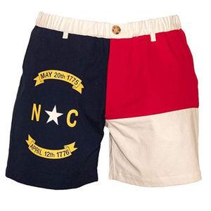 """M-PEX 5.5"""" Inseam Men's North Carolina Flag Shorts"""
